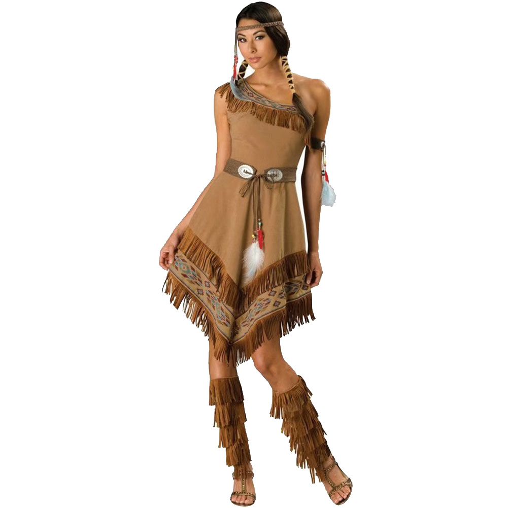 Performance Costume Halloween Cosplay Game  Irregular Long Dress 1833_XL