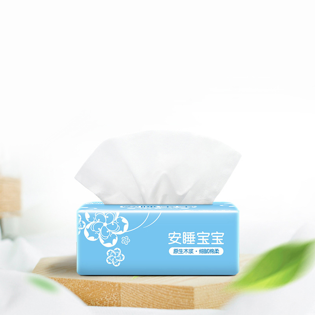 300 Sheets Napkin Skinfriendly 4 Layers Tissue for Bathroom Home Resturant white