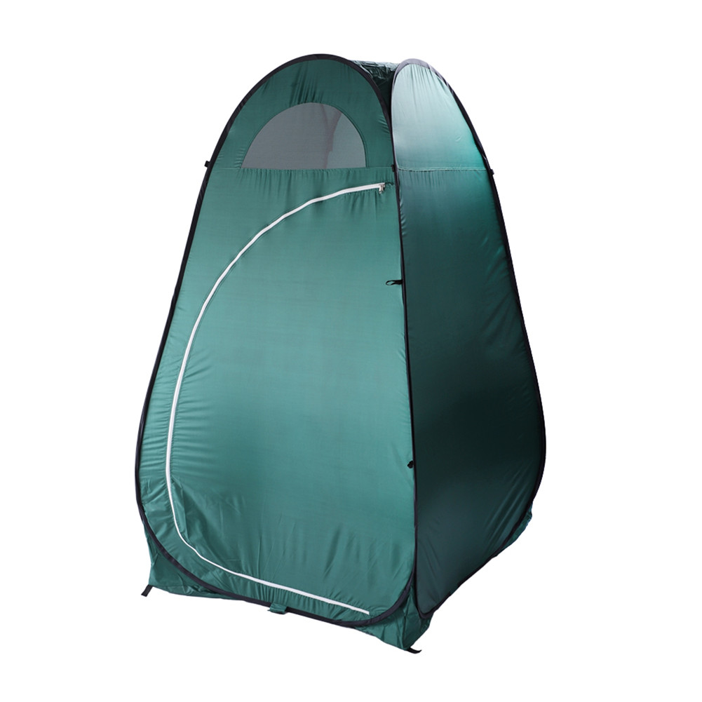 [US Direct] Portable Outdoor  Canopy Toilet Dressing Fitting Room Privacy Shelter Tent Green