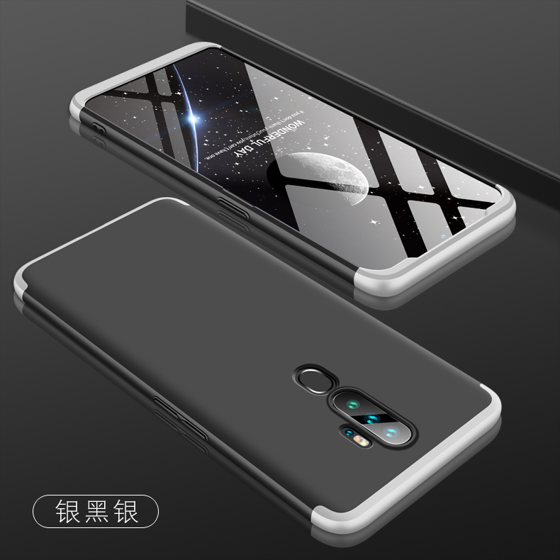 For OPPO A5 2020/A11X Cellphone Cover Hard PC Phone Case Bumper Protective Smartphone Shell black silver