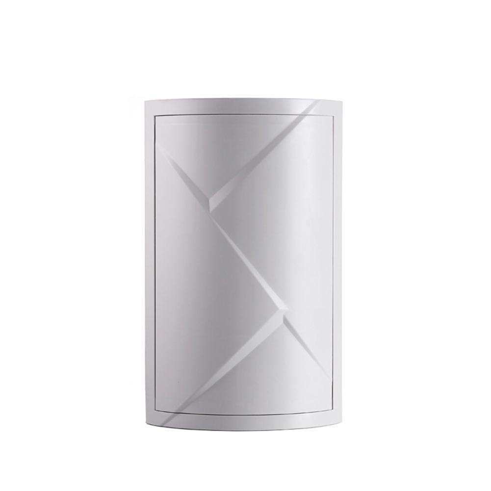 Bathroom 360 Degree Rotating Triangular Shelf Kitchen Toilet Corner Shelf Storage Rack Gray (medium)