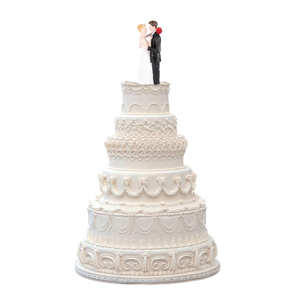 婚礼蛋糕人偶装饰 含情脉脉