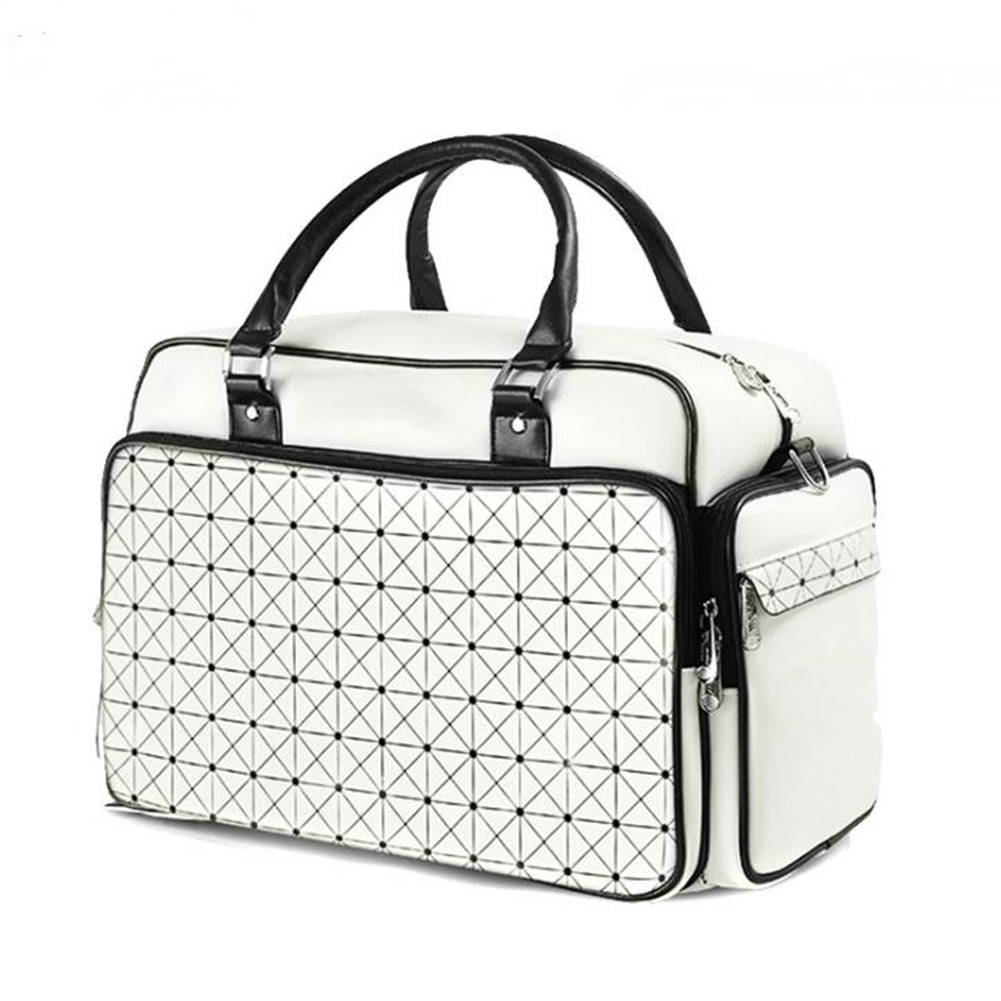 Golf Clothing Bag Fashion Bag Waterproof PU Golf Bag Huge Capacity Single Shoe Bag white