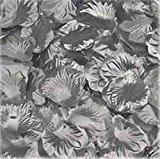 1000pcs Silver Silk Rose Petals Bouquet Artificial Flower Wedding Party Aisle Decor Tabl Scatters Confett