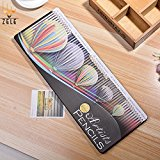 [US Direct] Wooden 3.0mm 60 Assorted Easy to Work Colour Pencils with Fire Balloon Iron Box