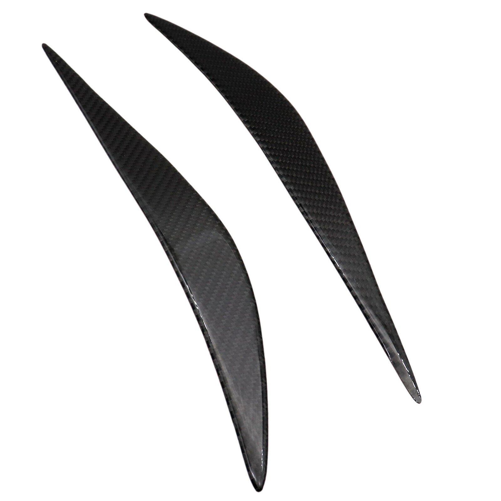 1 Pair Carbon Fiber Headlight Eye Lid Cover Eyebrows For F32 F33 F36 2012-2018 Carbon black