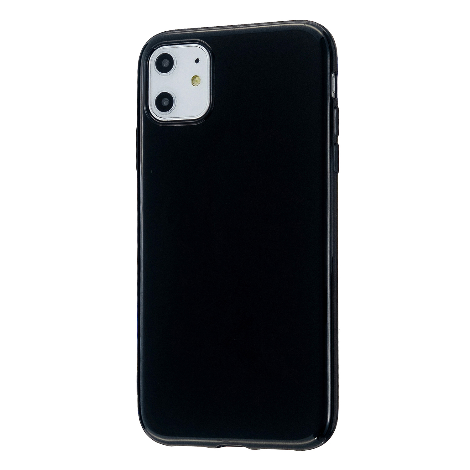 For iPhone 11/11 Pro/11 Pro Max Smartphone Cover Slim Fit Glossy TPU Phone Case Full Body Protection Shell Bright black