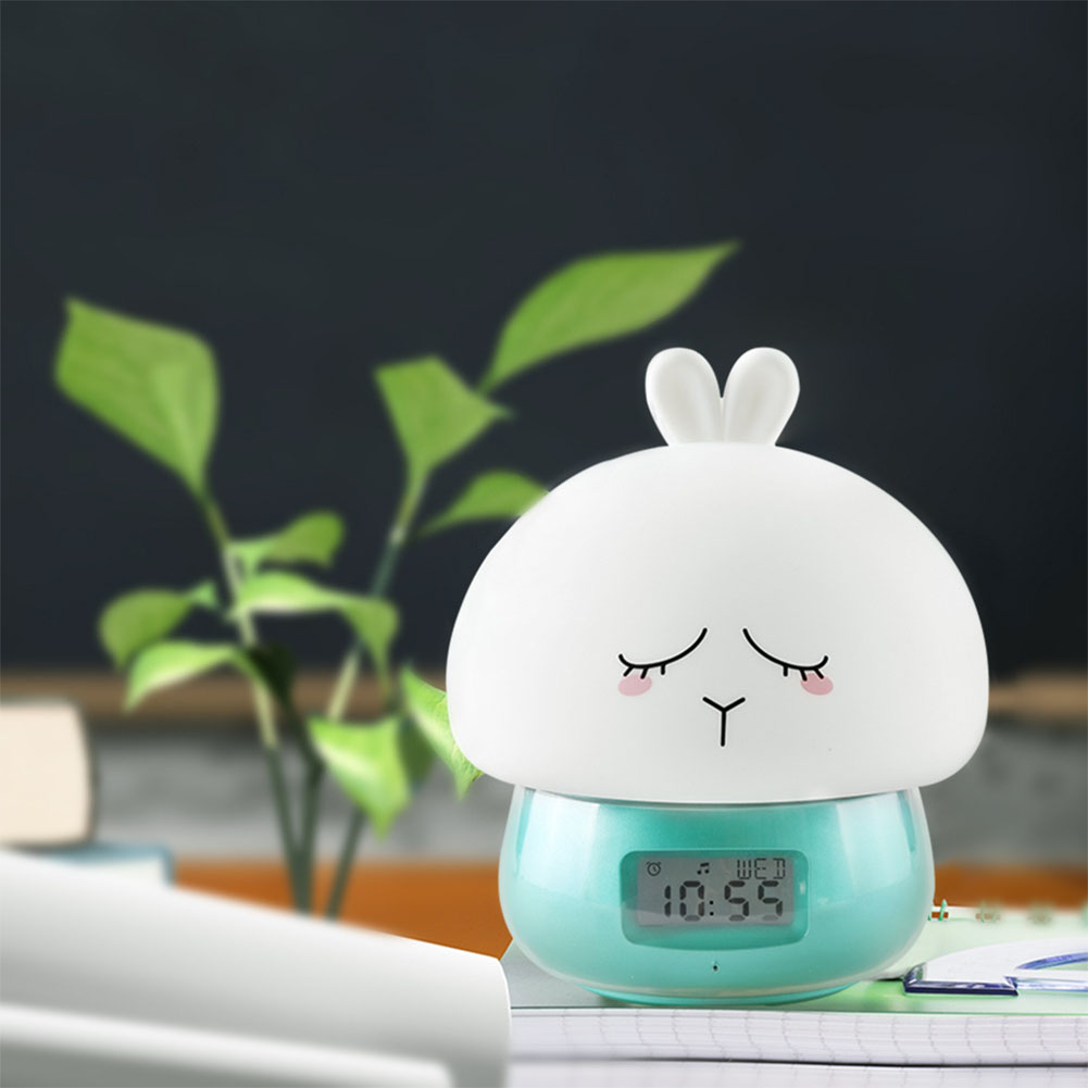 USB Charging Cute Patting Night Light with Remote Control Alarm Clock Recording Function Decoration Gift green