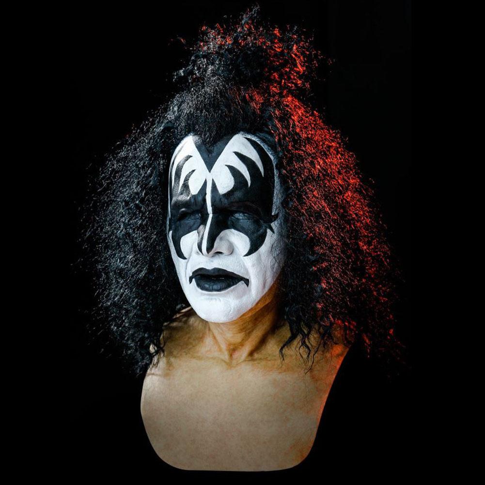 Unisex Kiss Gene Simmons Mask Art Windproof Halloween Scary Music Festival Prop shut up