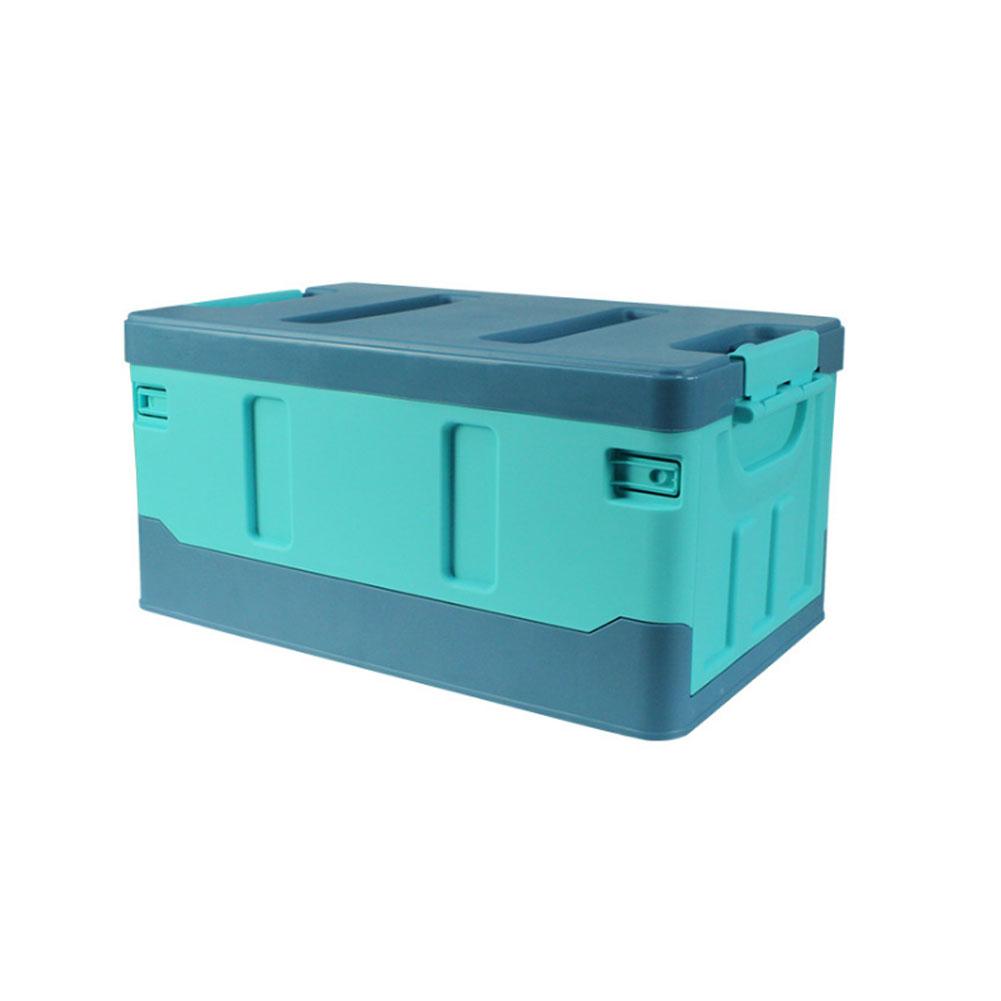 Car Organizer For Trunk Transporting Storage Camping Car Accessory Car Organizer Box Organizer Luggages Lake blue_40L