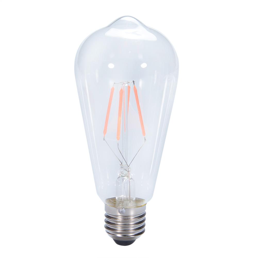 Retro Decorative Edison Bulb LED COB E27 Screw Cap Pub Bar Ambient Filament Light Bulb Red