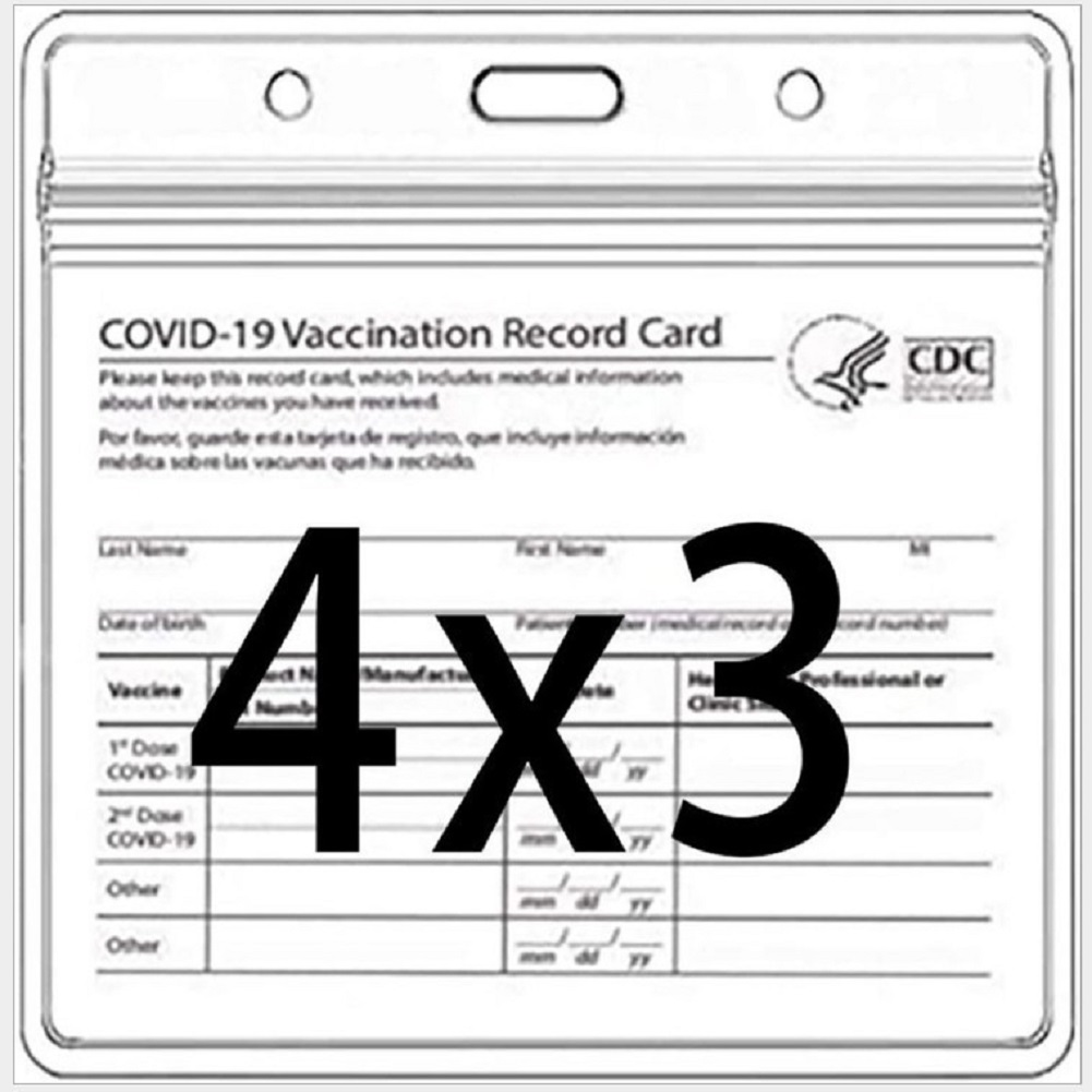 Vaccination Card Protector 4x3 Inches Immunization Record Vaccine Cards Cover Holder Clear Plastic Sleeve 1 set_card