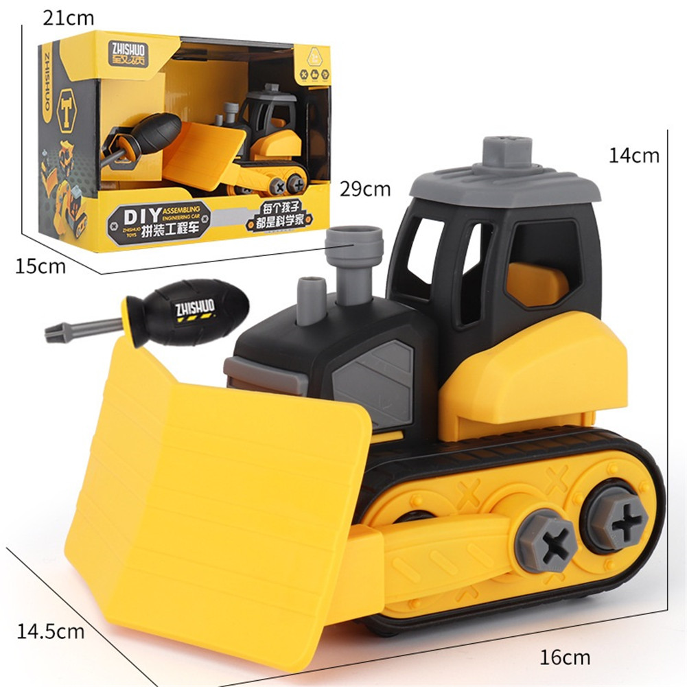 Children Take Apart Construction Educational DIY Engineering Vehicle Toys Gifts for Kids Snow car