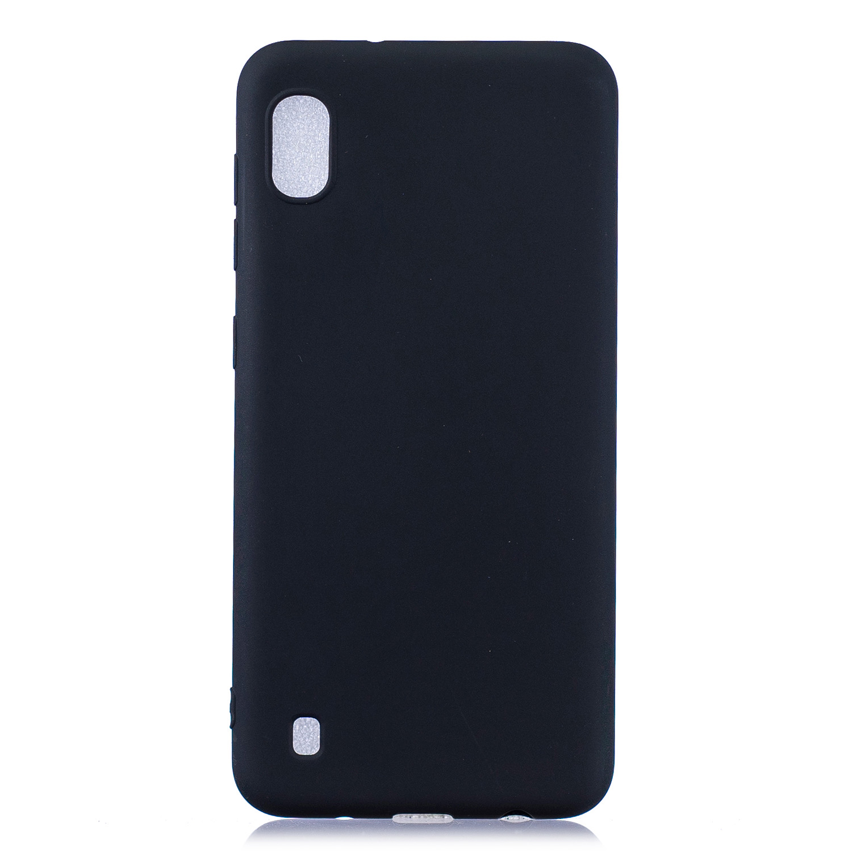 For Samsung A01/ A11/A21/A41/A51/A71/A81/A91 Mobile Phone Case Lovely Candy Color Matte TPU Anti-scratch Non-slip Protective Cover Back Case 1 black