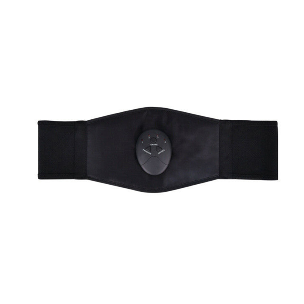 Stomach Muscle Trainer Abdominal Muscle Stimulator Electric Fitness Belt black