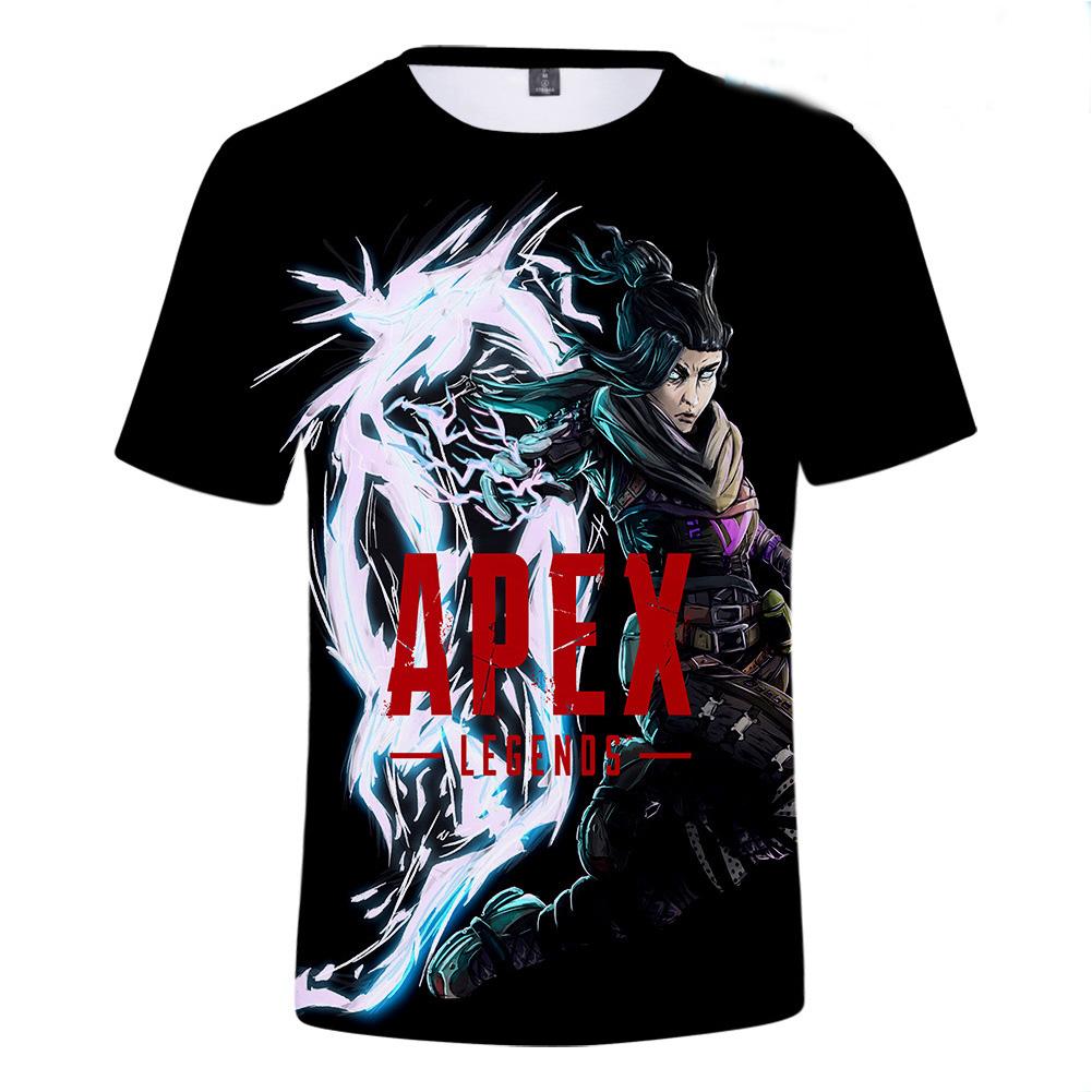 Fashion Game 3D Apex Legends Printing Short Sleeve T-Shirt  N1_L