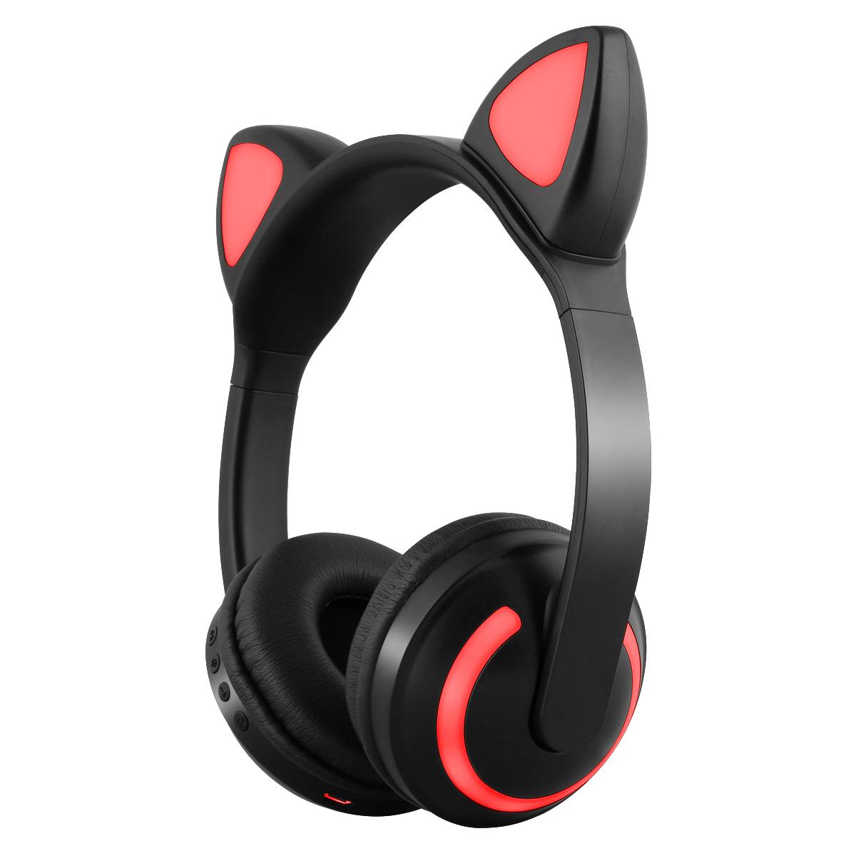 Wireless Bluetooth Stereo Cute Animal Ear Design Headphones Flashing Glowing Gaming Headset cat ear