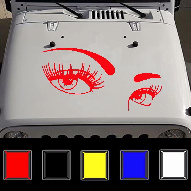 Fashion Car Body DIY Waterproof Beautiful Eyes Stylish Decal Stickers Set