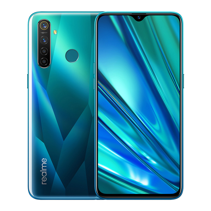 Realme Q 6.3in Full Screen R 5 pro 8+128 GB Snapdragon 712AIE Octa Core Waterproof Super VOOC 2340×1080 5cameras 48MP Face+Fingerprint ID green