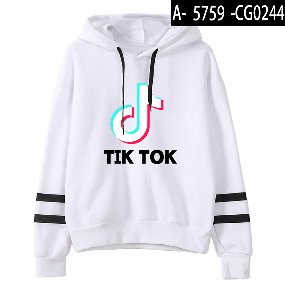 Men Women Letters Printing Long Sleeve Sport Casual Work Hoodies Pullover Sweatshirt White A_M