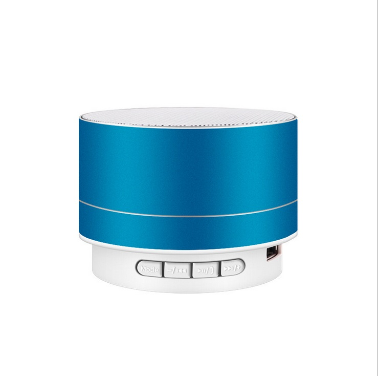 Wirelesss LED Glowing Bluetooth Receiver Hands-free Music Player Metal Bluetooth Speaker blue