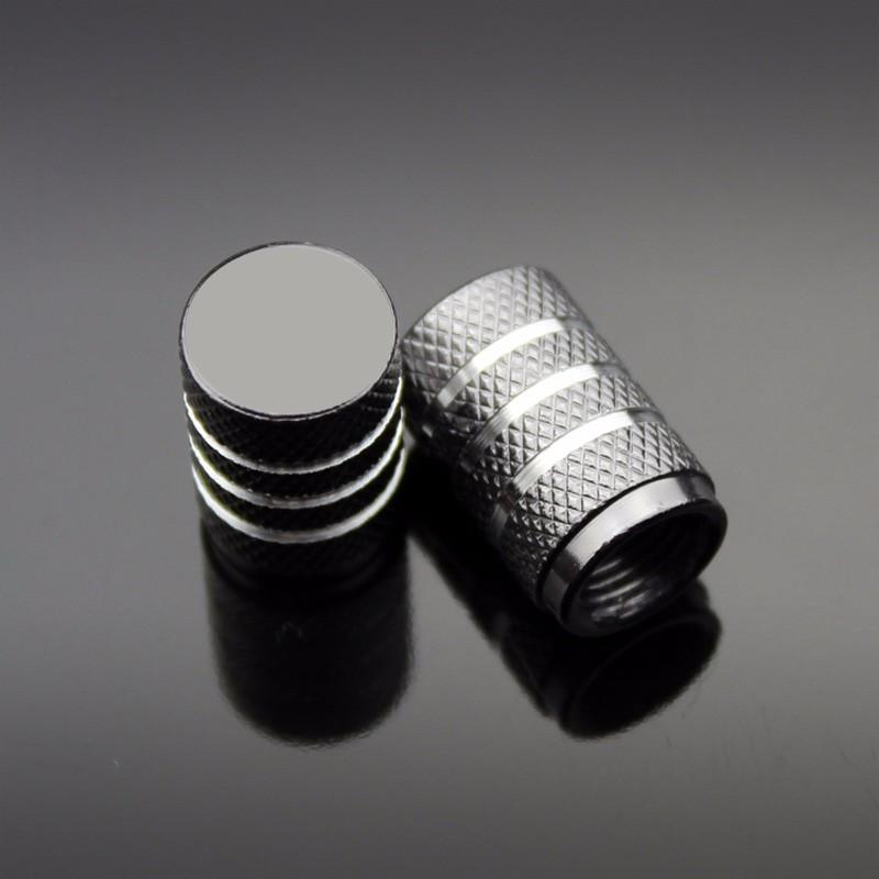 4PCS Color Aluminum Car Tire Valve Cap Wheel Hub Valve Cover Auto Accessories Silver