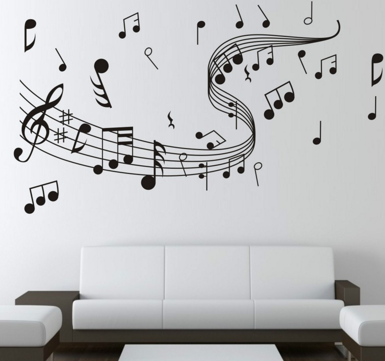 Music Note Wall Sticker DIY Wallpaper Home Wall Decoration Removable Sticker 60 * 100cm