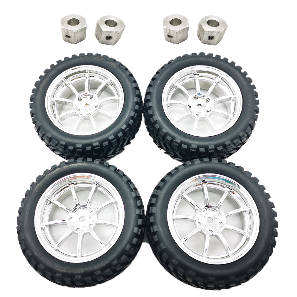 Universal Upgrade Wheel Tire for DIY RBR/C MN D90 91 96 99 99S RC Car Parts 4pcs