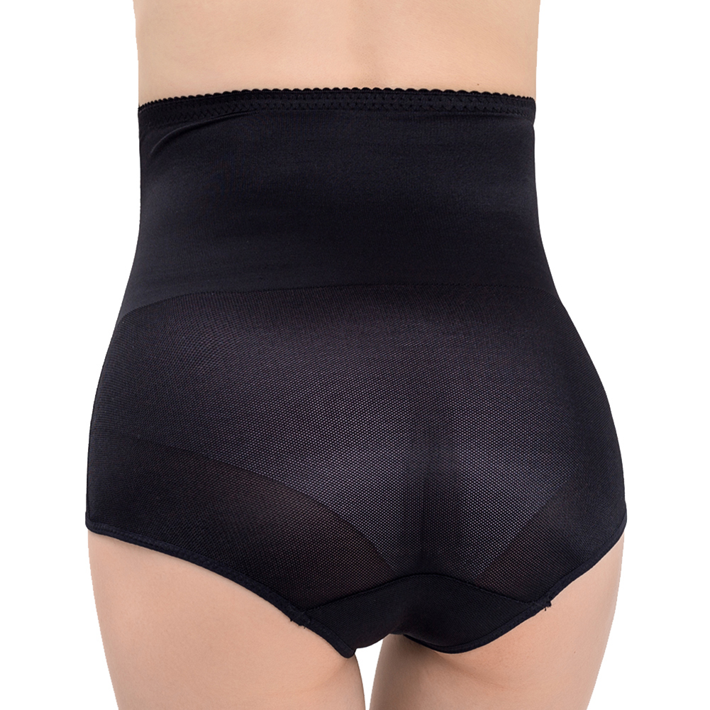 Women's Underpants High-waisted Hip-lifting Shaping Breathable Waist-binding Shaping Underwear black_L