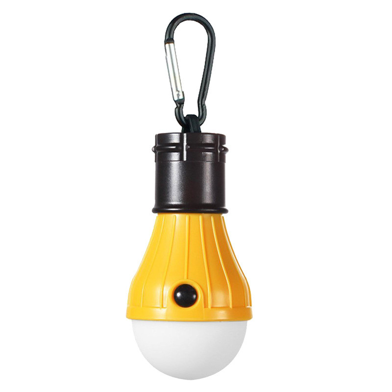 3LEDs Mini Outdoor Emergency Lamp Portable Lantern Tent Light Bulb for Camping yellow