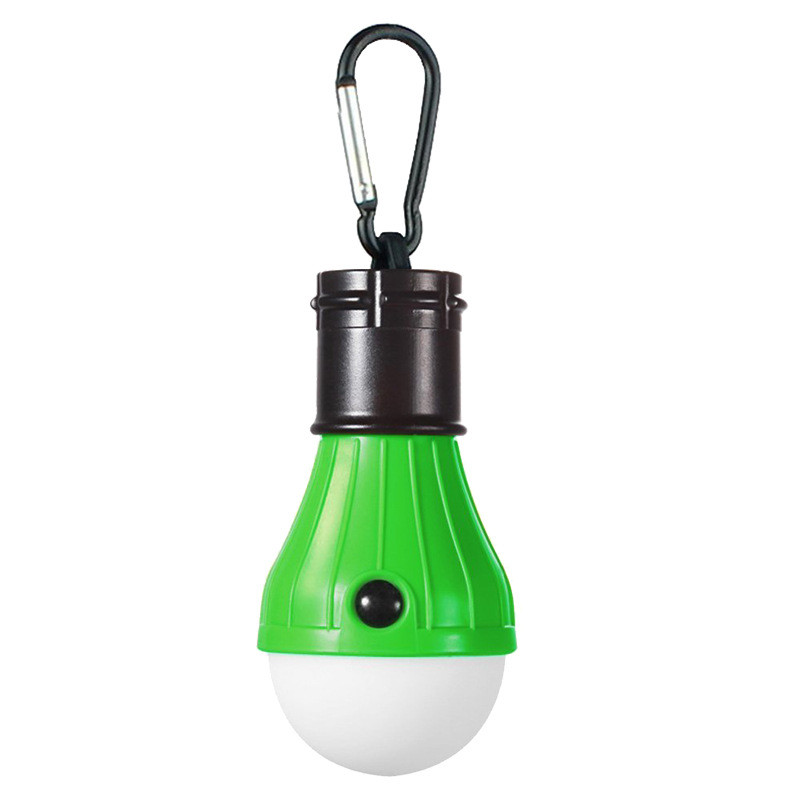 3LEDs Mini Outdoor Emergency Lamp Portable Lantern Tent Light Bulb for Camping green