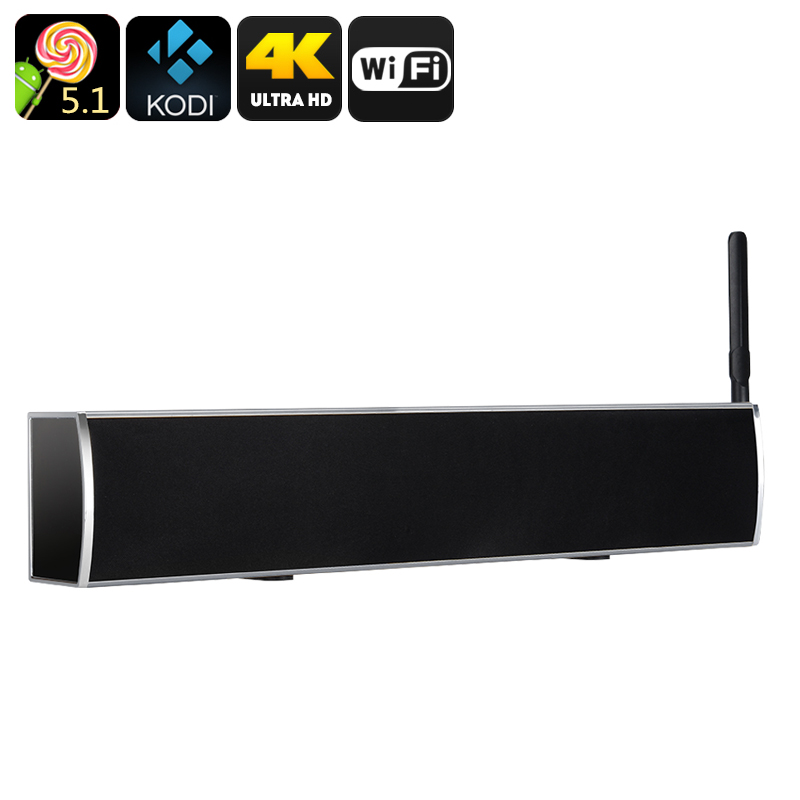 Anroid TV Box + Soundbar (Grey)