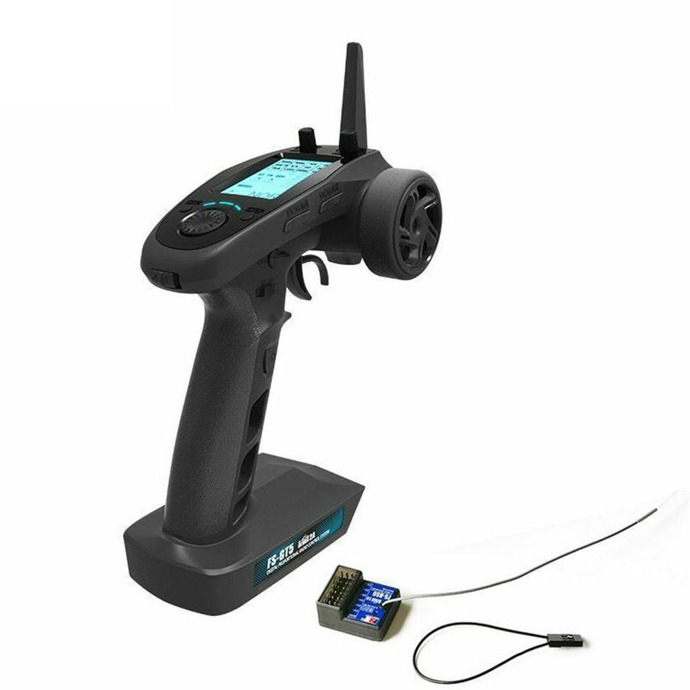 FlySky FS-GT5 2.4G 6CH Remote Controller Transmitter with FS-BS6 Receiver for RC Car Boat default