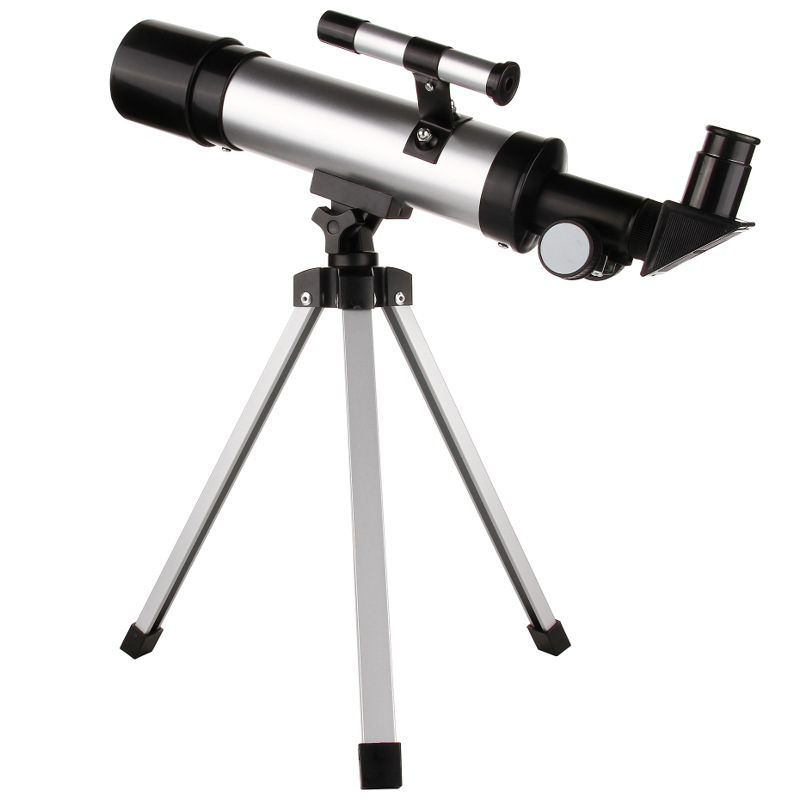 90X Monocular Professional Space Astronomic Telescope Portable Astronomical Refractor Telescope Silver black