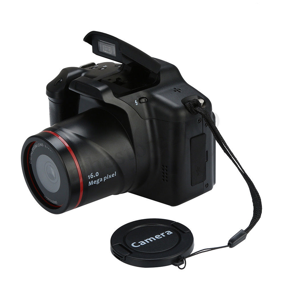 16MP HD 1080P 2.4 Inch TFT Screen Anti-shake Digital SLR Camera with Built-in Microphone black