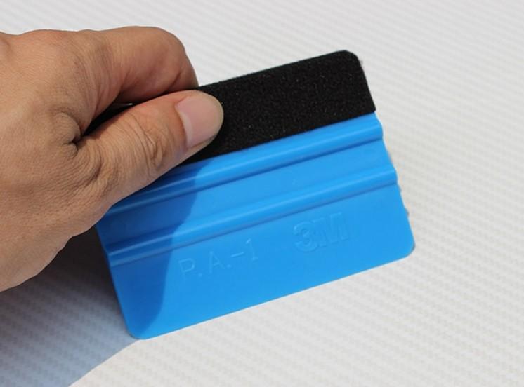 [Indonesia Direct] 3M Squeegee 3D Carbon Fiber Vinyl Film Wrap Tool Car Sticker Styling Tools Water Wiper Scraper Window Wash Tools blue