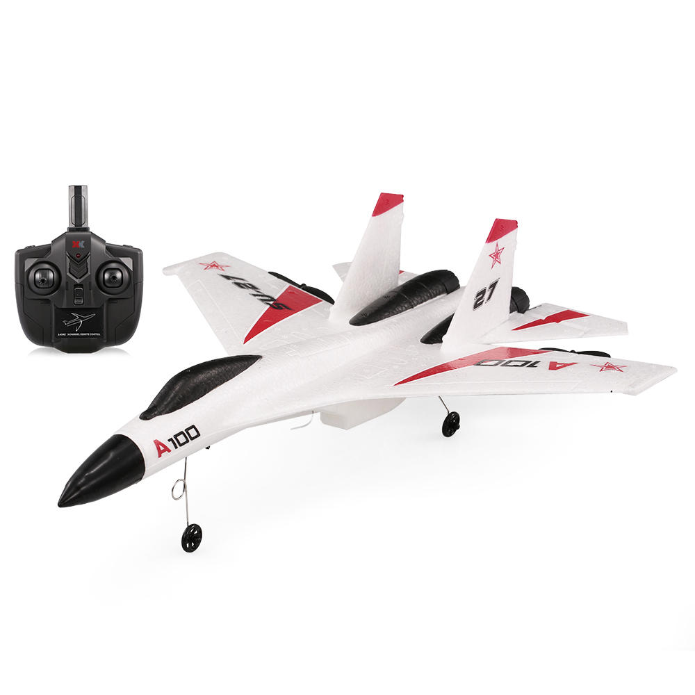 XK A100-SU27 EPP 340mm Wingspan 2.4G 3CH RC Airplane Fixed Wing Plane Aircraft white