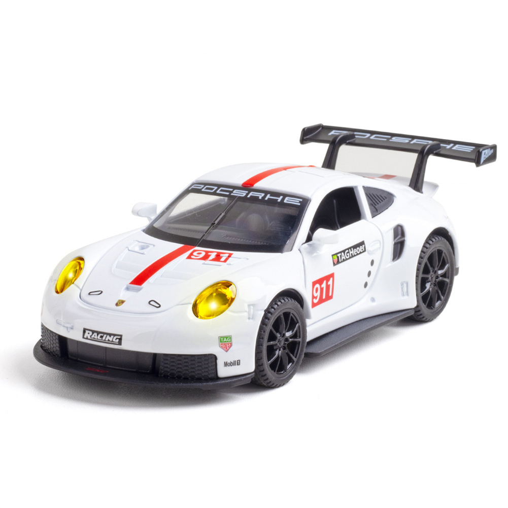 Simulation  1:32  Sports  Car  911rsr  Racing  Version  Alloy  Model Metal Decoration Toy White