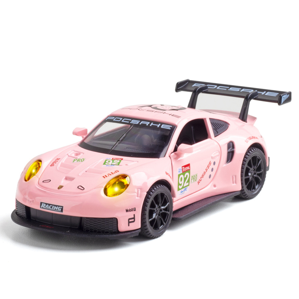 Simulation  1:32  Sports  Car  911rsr  Racing  Version  Alloy  Model Metal Decoration Toy Pink