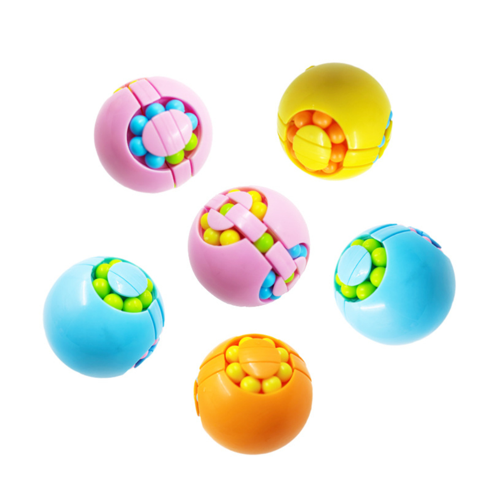 Magic  Beans  Cube  Toy Fingertip Gyroscope Relieve Stress Novelty Puzzle Magic Beans Toys Random Color