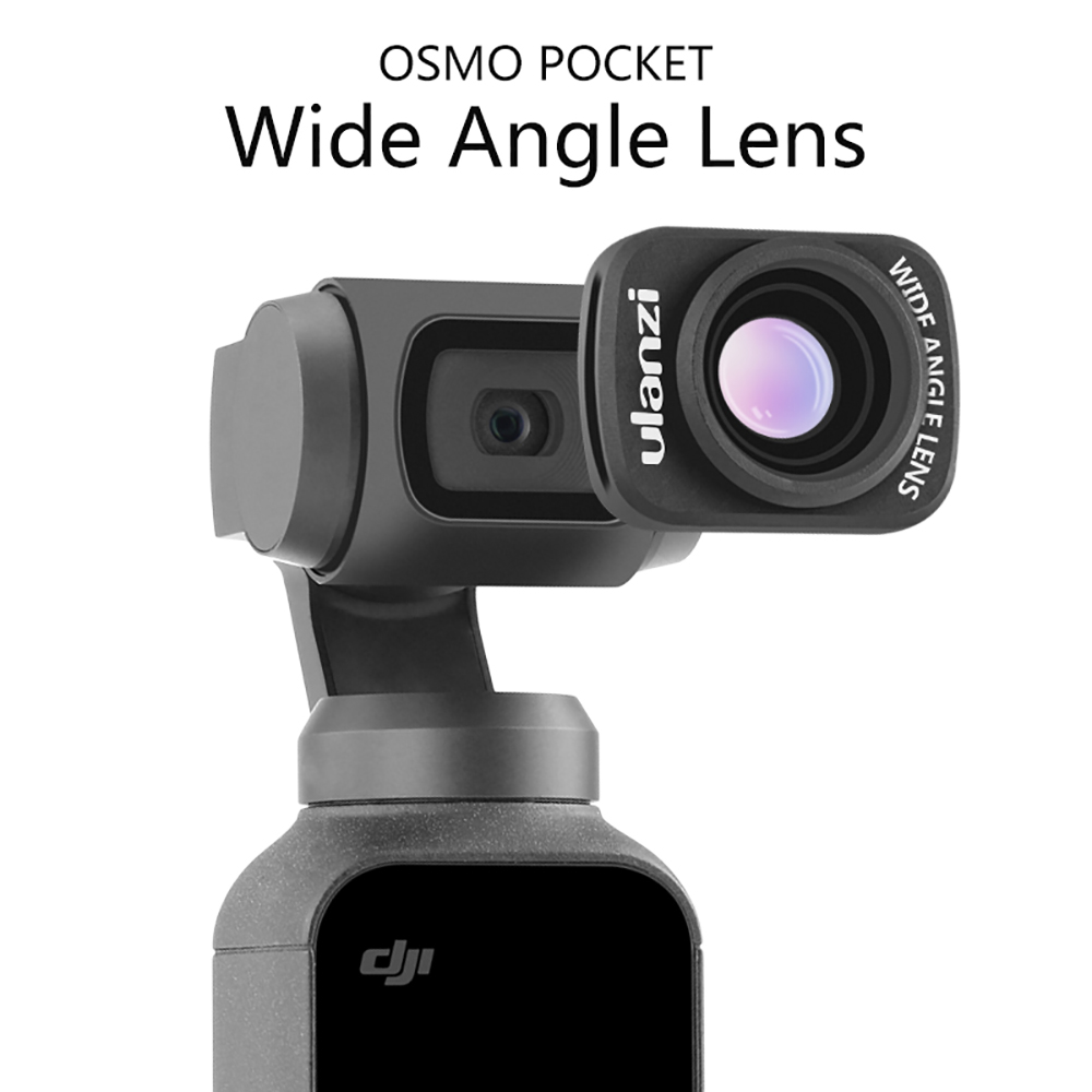 [Indonesia Direct] Ulanzi OP-5 Large Wide-Angle Lens for DJI Osmo Pocket Professional HD Magnetic Structure Lens  black