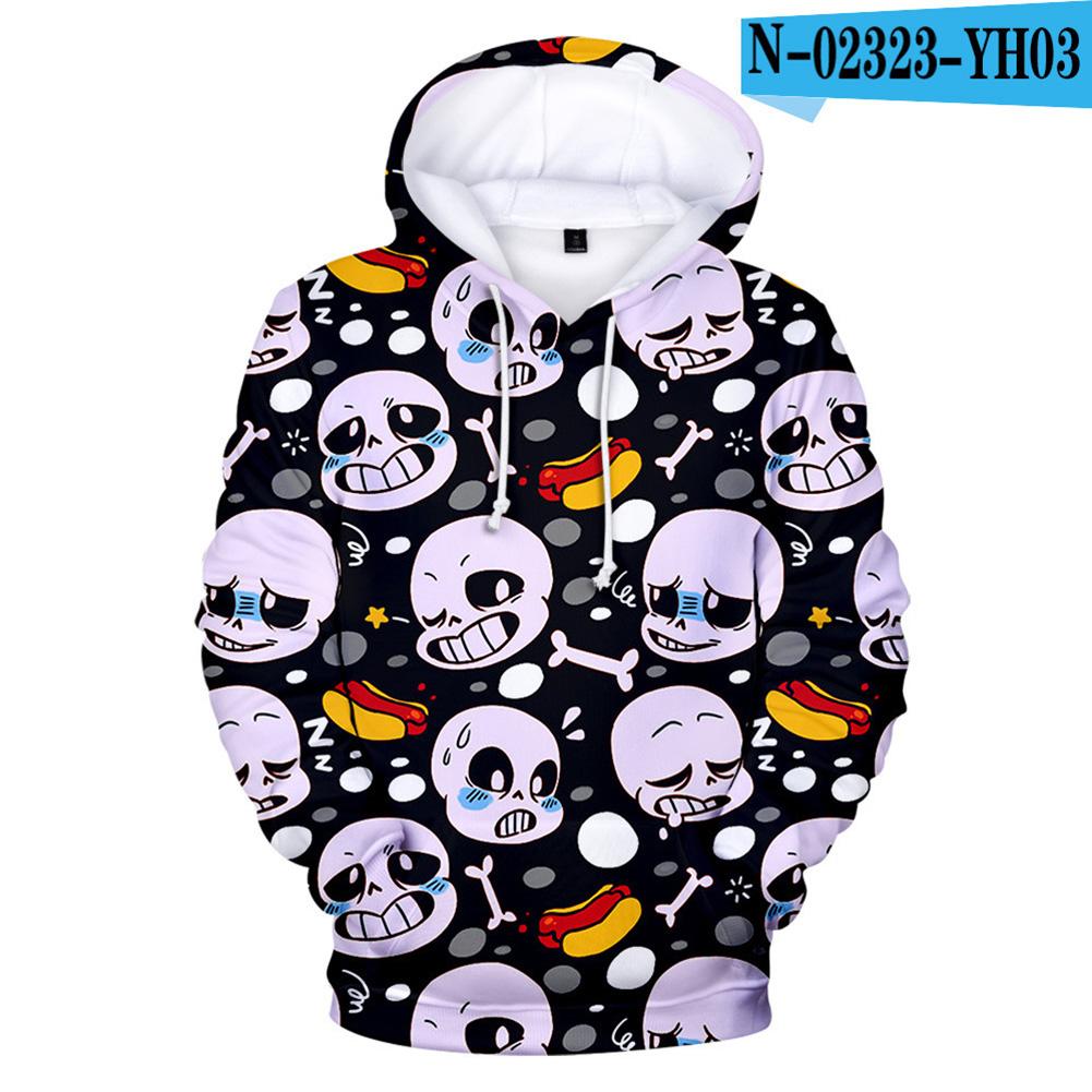 Men Women Undertale Series 3D Digital Printing Hooded Sweatshirts C_XXL