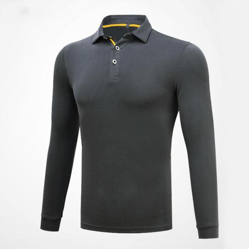 Golf Clothes Male Long Sleeve T-shirt Autumn Winter Clothes for Men YF148 dark gray_XL