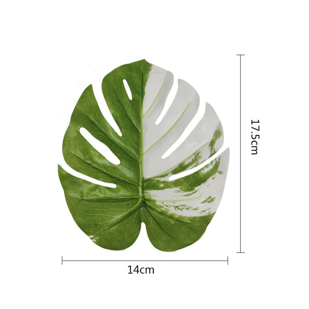 Simulation Monstera Leaf Indoor Desktop Mini Ornaments for Hawaii Wedding Party Decor 12pcs
