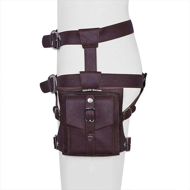 Outdoor Leg Bag Waist Fanny Pack Belt Assault Bags Outdoor Equipment brown