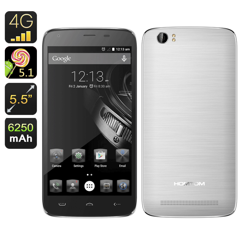 HOMTOM HT6 Smartphone (Silver)