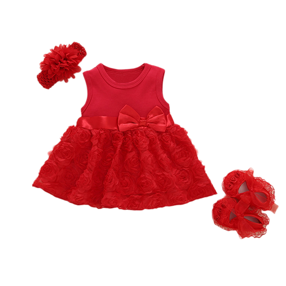 Baby Girls Infant Lace Party Wedding Dress