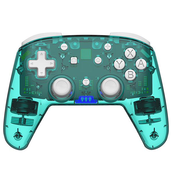 Game Controller Dual Motor Powerful Vibration Mode Bluetooth Gameppad Plastic for Switch Pro blue