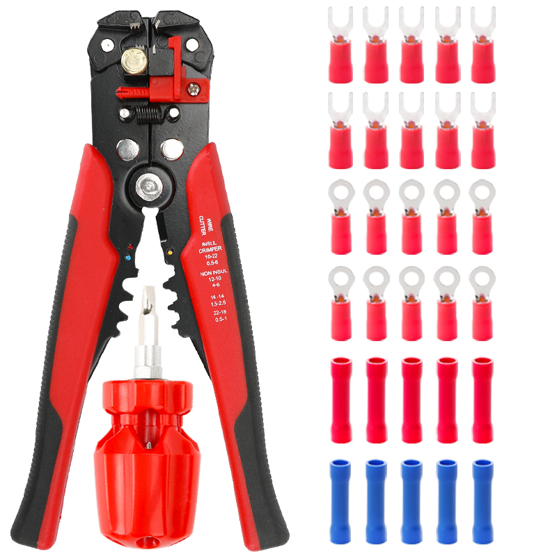 8 Inches Multifunctional Wire Stripper Terminal Manual Crimping Hardware Tool