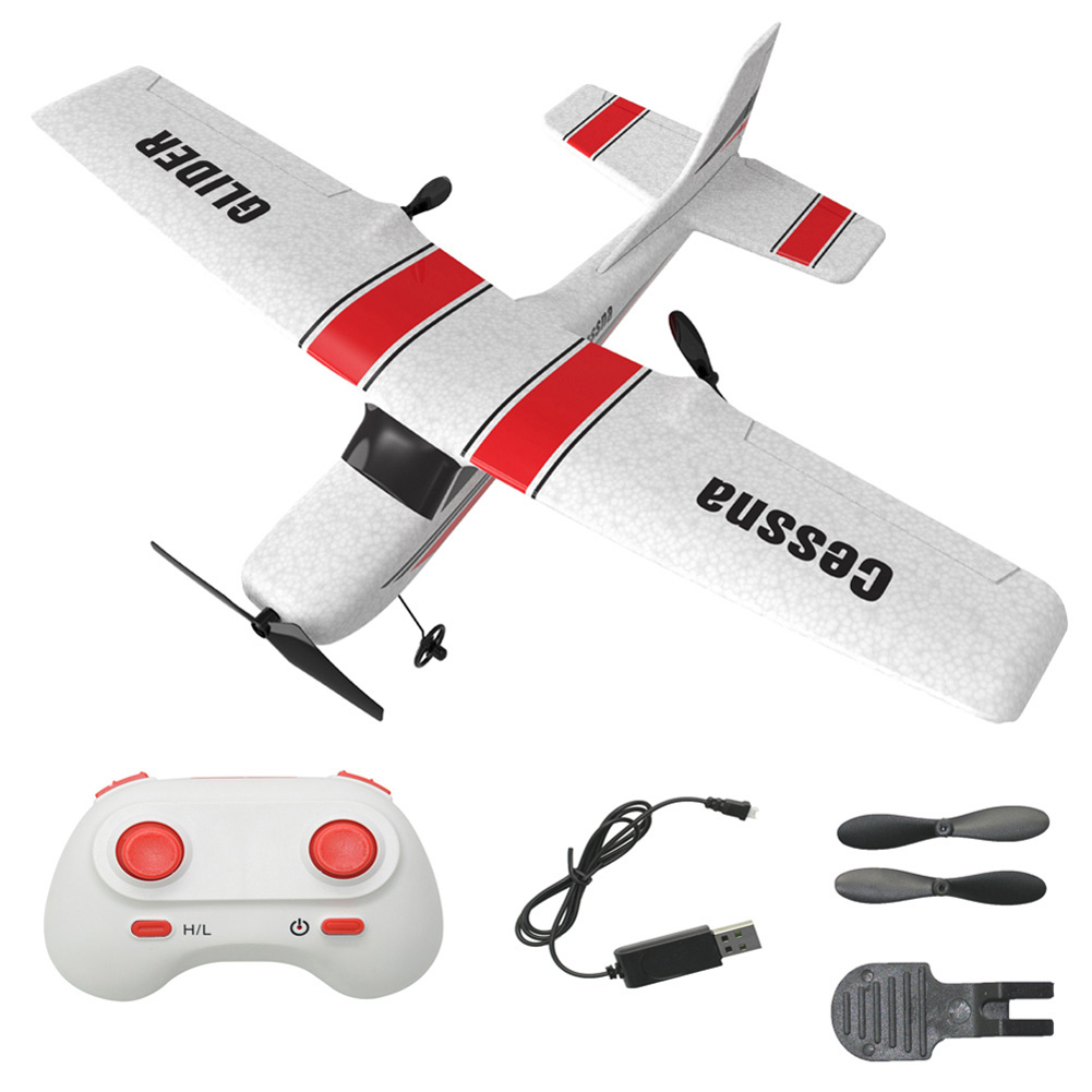 Z53 Remote Control Drone 182T 2.4Ghz 2CH Glider EPP Foam Aircraft with Gyroscope Protection Chip Low Power Protection Dual battery